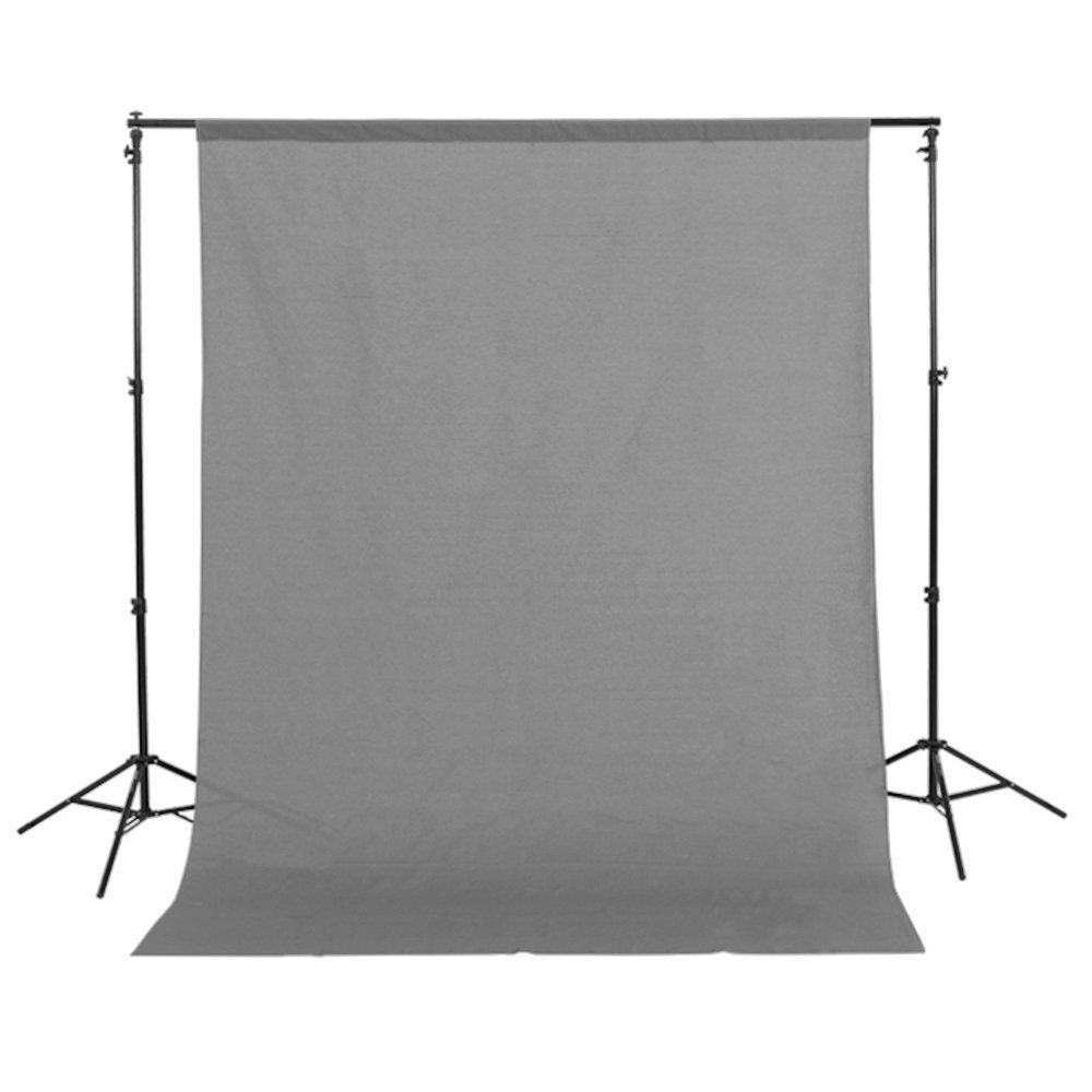 Fotga 1.5mx3m/5ft x10ft Gray Pure Cotton Muslin Photo Photography Backdrop Background