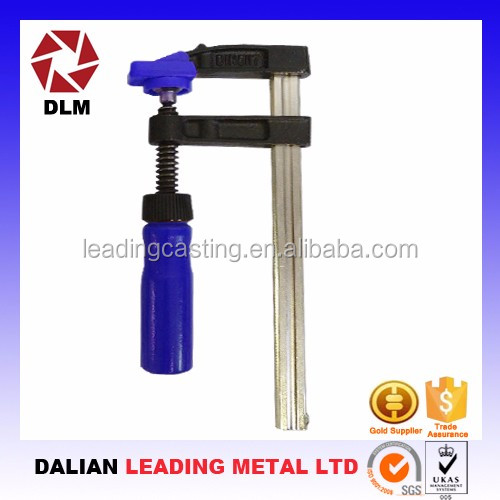 OEM cast iron casting steel swivel lead screw threaded rod wood graining fastening tools of Bar Clamps
