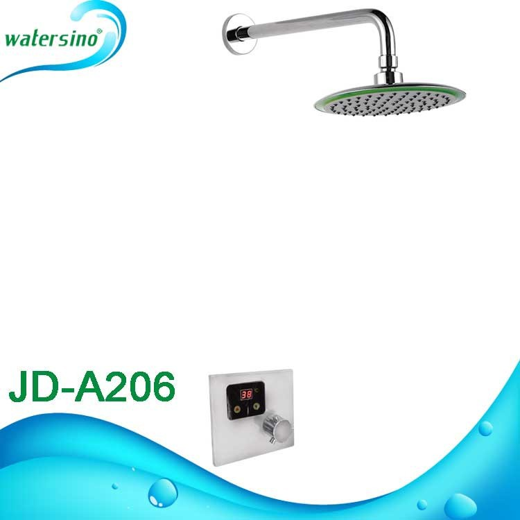 round over head shower concealed thermostatic mixer valve JD-A206
