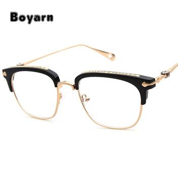 2017 Brand Designer Gold Metal Eyeglasses Frame For Women Men ...