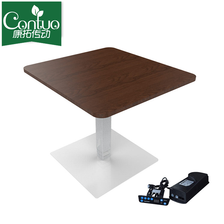 Modern design height adjustable lifting wooden electric dining coffee table