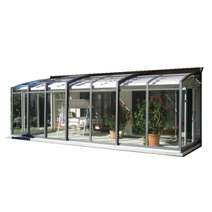 2018 aluminium sunroom/morden glass house/commerical garden room/greenhouse