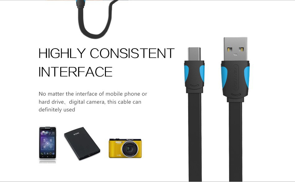 Vention Mini Usb Cable Sync Data Usb2 0 Charger Cable For