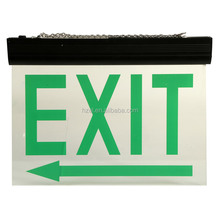 Double-side Led Rechargebale Emergency Exit Sign Board Lamp