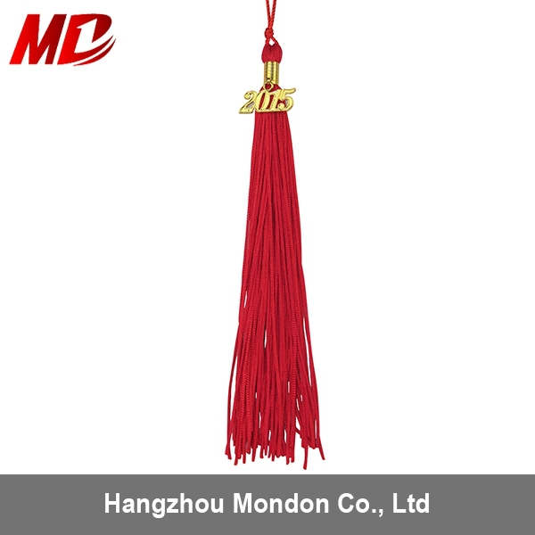 OEM Red Tassel With 2015 Year Charm For Graduation To Cap