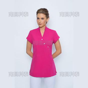 2017 fashion metal buttons spa salon tunic uniform buy for Spa uniform alibaba