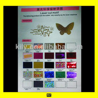 Special laser cut sequin motif color chart