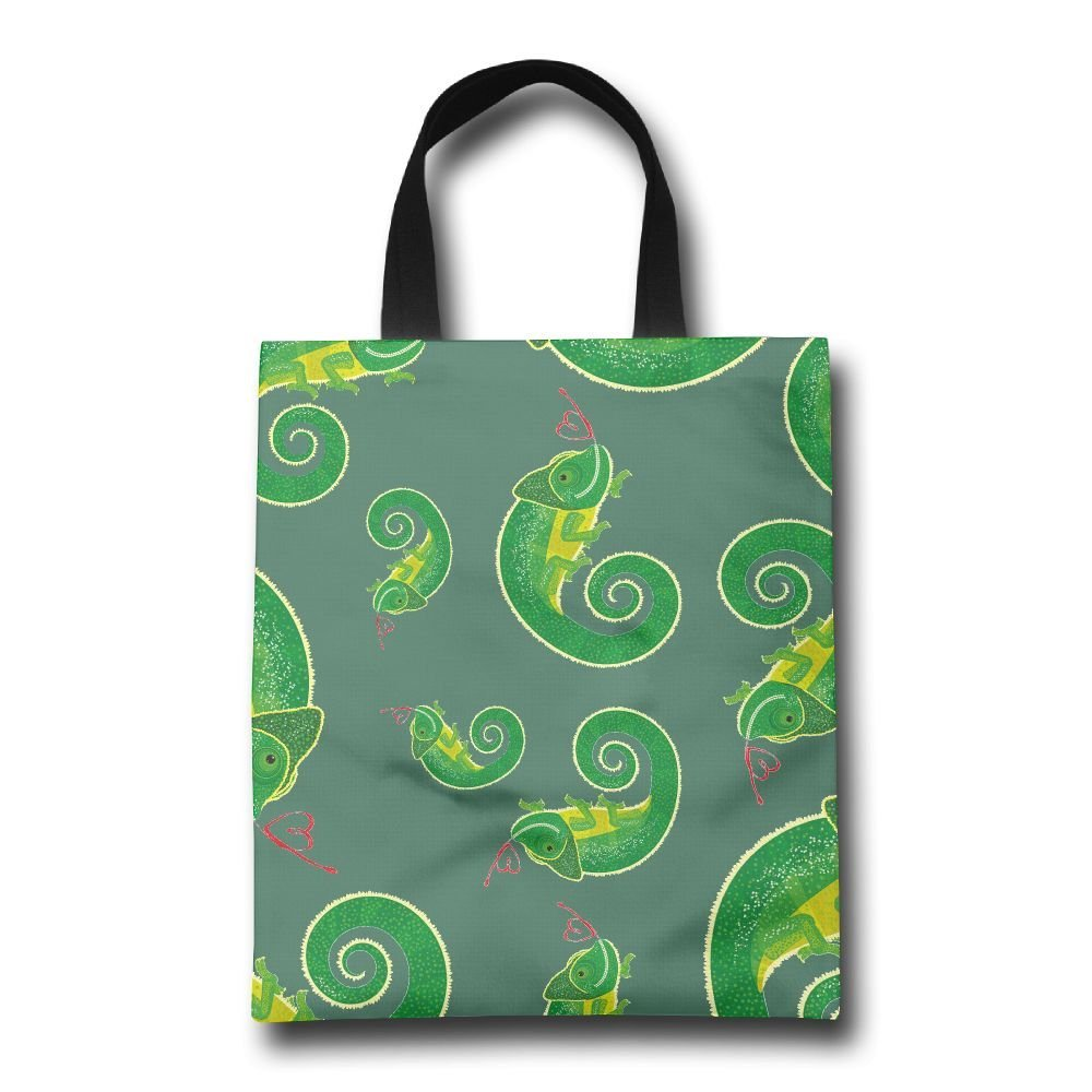 04e720c037f1 FTF BAG Green Lizard Women Reusable Shopping Bag Cute Portable Beach Bag