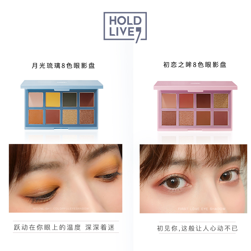 NEW Cosmetics Professional 2 Color Eye Shadow Makeup Glitter Eyeshadow Palette