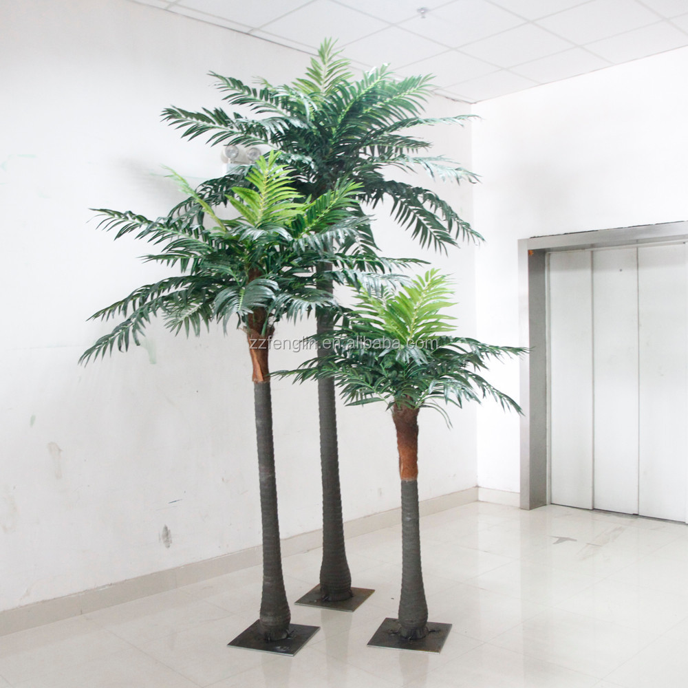 3pcs one set fake coconut tree factory direct cheap artificial coconut palm tree for indoor. Black Bedroom Furniture Sets. Home Design Ideas