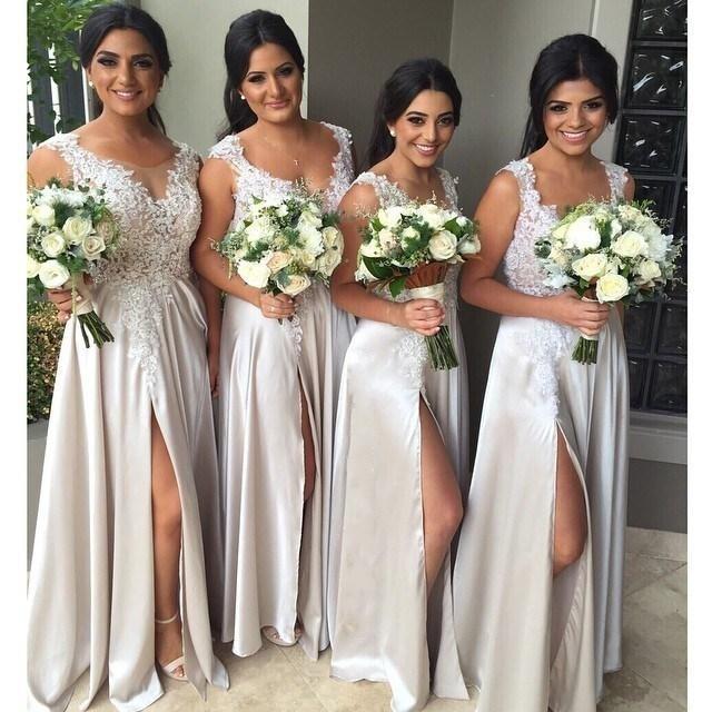 Venta al por mayor vestidos largos para boda color coral-Compre ...