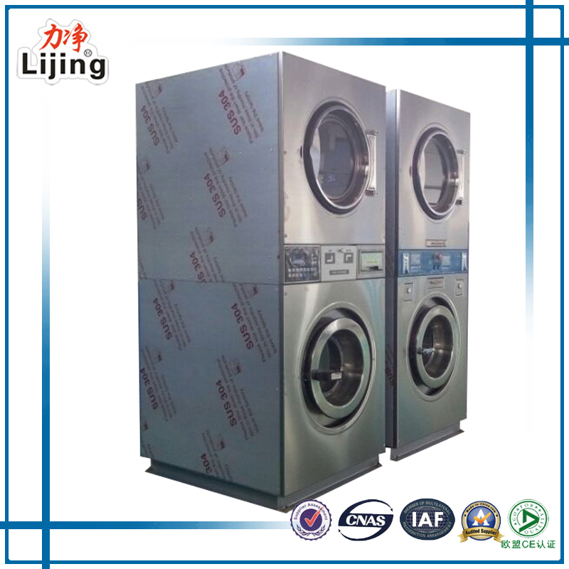 new technology coin laundry equipment washer dryer combo with id card for sale