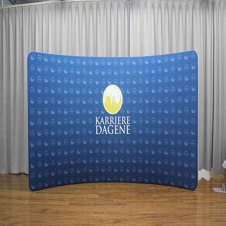 Custom design c-shaped portable trade show exhibition booth backdrop display trade banner favoshow display