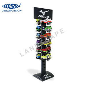 Shoe store sneakers shoes display rack / double sides display stand for sneakers / metal display for sneakers