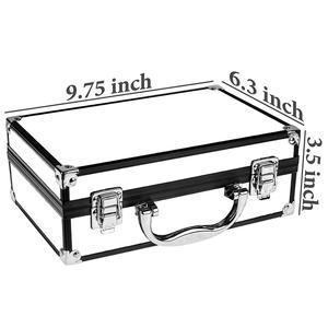 display professional portable sliver nail polish plastic carrying aluminum makeup case