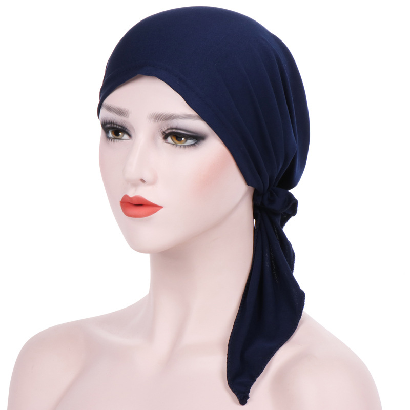 Fashion Accessories High Quality Stretch Scarf Hat Bandana Hijab Soft Turban Ladies Muslim Hat