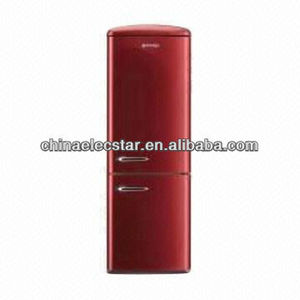 red Retro-style refrigerator for home or hotel