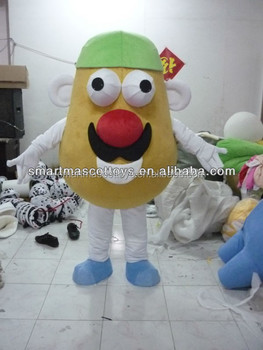 Good ventilation potato costume with build-in cooling fan fit all adult potato costume