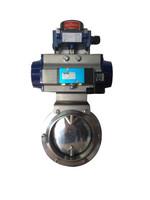 Flowx best selling Pneumatic sanitary butterfly valve Golden Supplier Manufacturer
