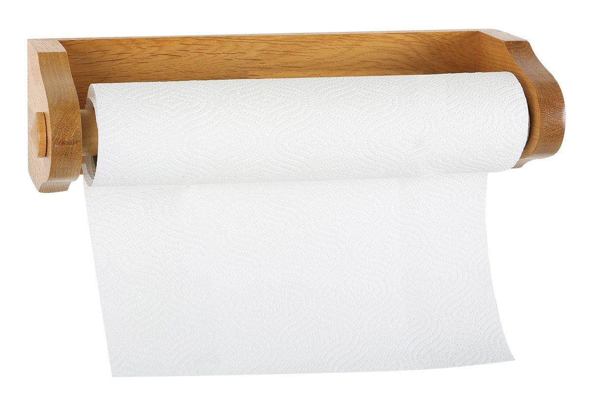 Design House 561233 Dalton Paper Towel Holder, Honey Oak Finish