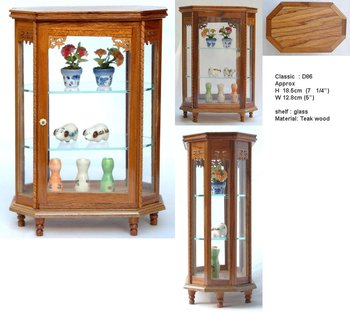 Miniature Teak Wood Display Cabinet - Buy Miniature Furniture ...