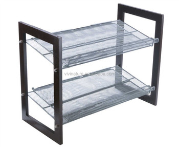 Mesh Utility Shoes Rack Closet Organizer Shelf Storage Shelving Brand NEW