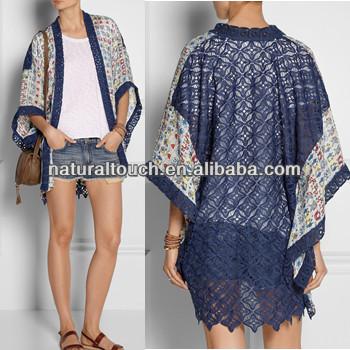 553811628 Fashion Bobe Short Sleeve Kimono Ladies Lace Cardigan - Buy Long ...