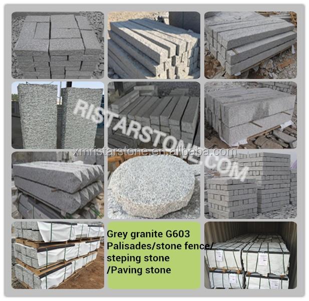 Naturliche Granit Stein Palisade Zaun Mit Ananas Oberflache Buy