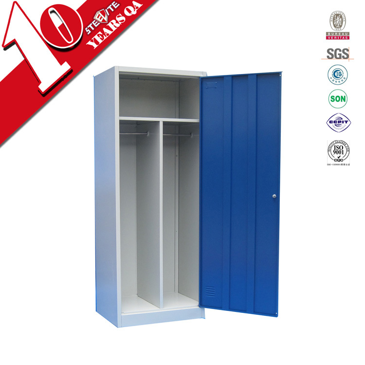 Bedroom Freestanding 1 Door Metal Closet Organizers With Handing Rod