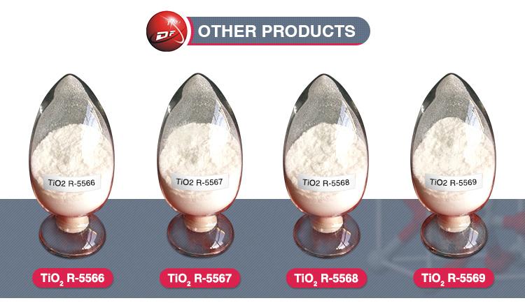 Hight Purity R-5566 25kg Bag Plastic Masterbatch Pigments Tio2 Rutile Titanium Dioxide