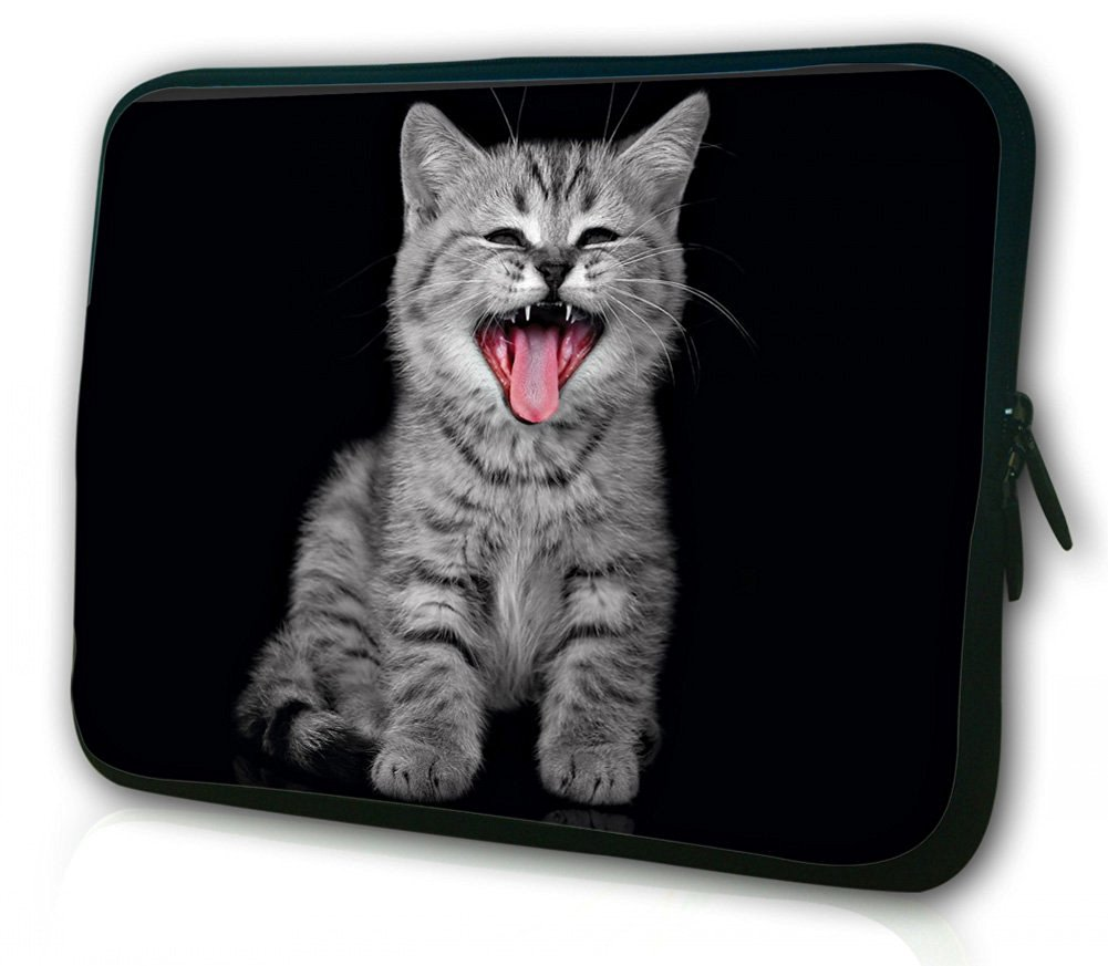 """WATERFLY Cute Kitty 15"""" 15.4"""" 15.5"""" 15.6"""" Inch Laptop Notebook Computer PC Sleeve Bag Pouch Cover Protector Holder Pack for Apple Macbook pro 15"""" Sony Vaio E-Series 15.5"""" HP Pavilion Entertainment PC 15"""" Lenovo G500s Dell Inspiron M5110 15.6"""" DEL INSPIRON 15 And Most 15"""" 15.4"""" 15.6"""" Inch Laptop"""