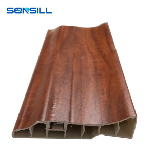 2.95 m High quality Pvc Skirting Board for flooring with wooden design