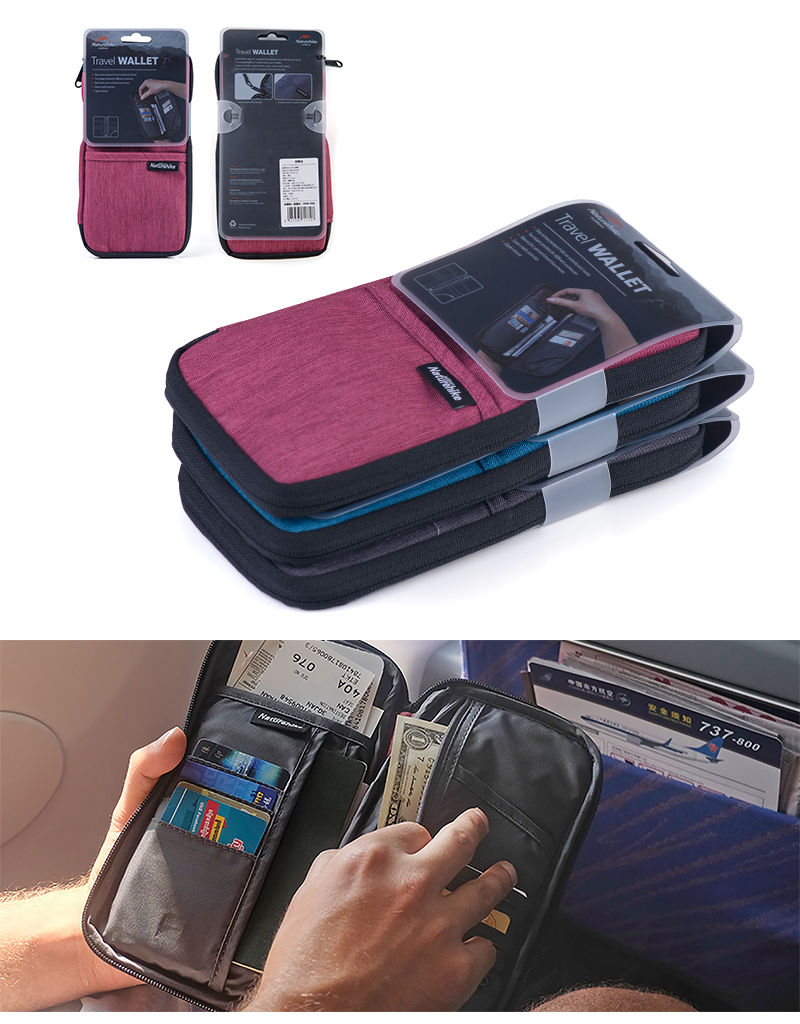 ca1db351e642 Naturehike Multi Function Outdoor Bag For Cash Passport Cards Travel Hiking  Sports Travel Wallet 3Colors