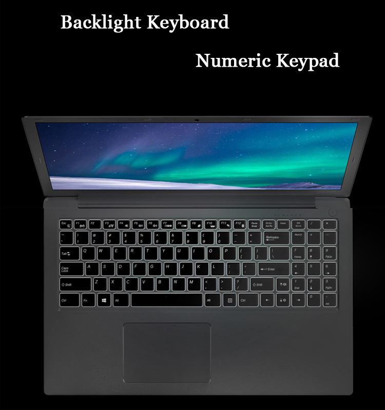VTEX Metal Case Backlight Keyboard Custom School Notebook Laptop 15.6 Inch