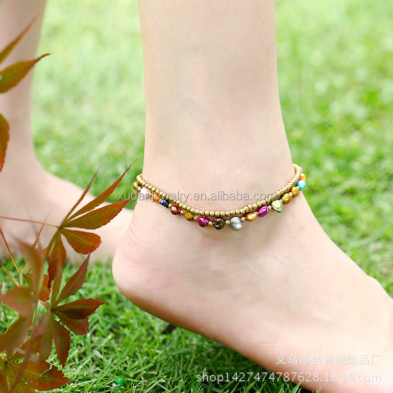 itm bohemian anklets mujer sexy women anklet pearl sandals pulseras imitation bracelet tobilleras foot bracelets ankle for gifts female jewelry