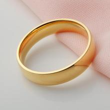 2 Colors Top Quality Silver Ring for Men Real Gold Plated Wedding Jewelry Band Rings for Women
