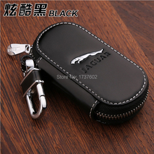 Car Styling Genuine Leather Keybag KeyCase for Jaguar XE XF XFR XK XKR XJ F-TYPE S-TYPE E-TYPE Car key ring chain