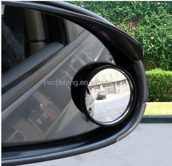 W110 New Driver 2 Side Wide Angle Round Convex Car Vehicle Mirror Blind Spot Auto RearView
