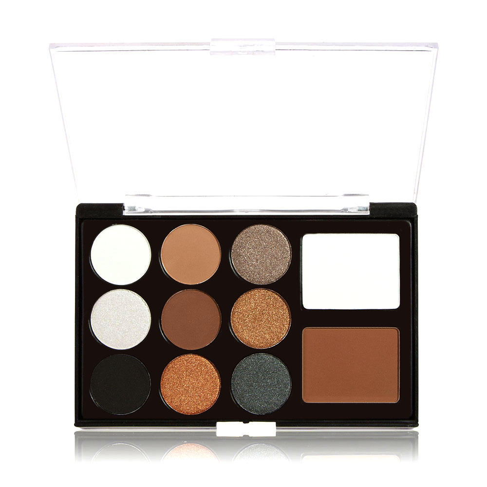 Anself 11 Color Makeup Kit 9 Color Glittering Matte Eyeshadow Double Color Blusher Earth Color Beauty Makeup Set