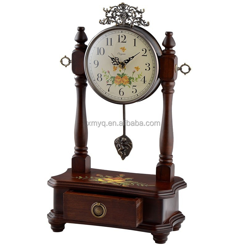 Retro Style Cheap Retro Wood Desk Clock For Wedding Gift Buy