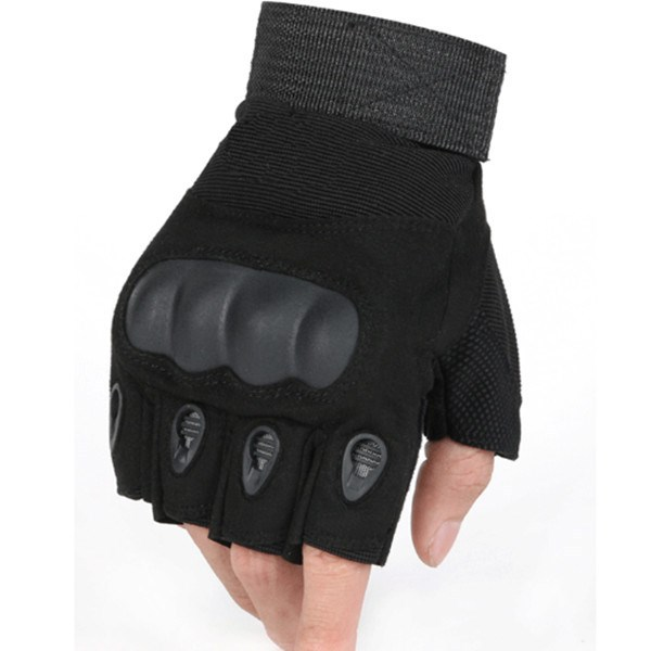 Fashion New Design Useful non-stick leather meterial Warm Soft Fingerless Tactical Gloves