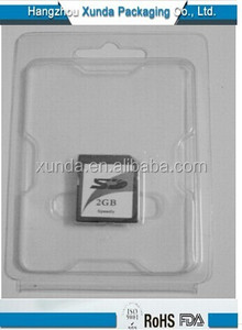 Factory customize blister packaging for sd cards