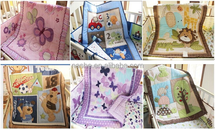 Baby Girl Patchwork Quilt With Embroidery And Applique
