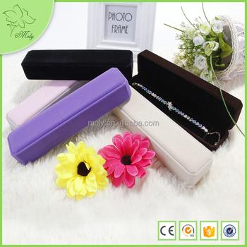Custom Antique Style Luxury Velvet Bracelet Necklace Packaging Box For Wedding Souvenir