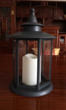 Electric Candle Lanterns with a Flame Free LED Pillar Candle and Timer
