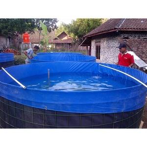 Pvc Canvas Fish Tank Farming Round Fish Pond Tank Tarpaulin
