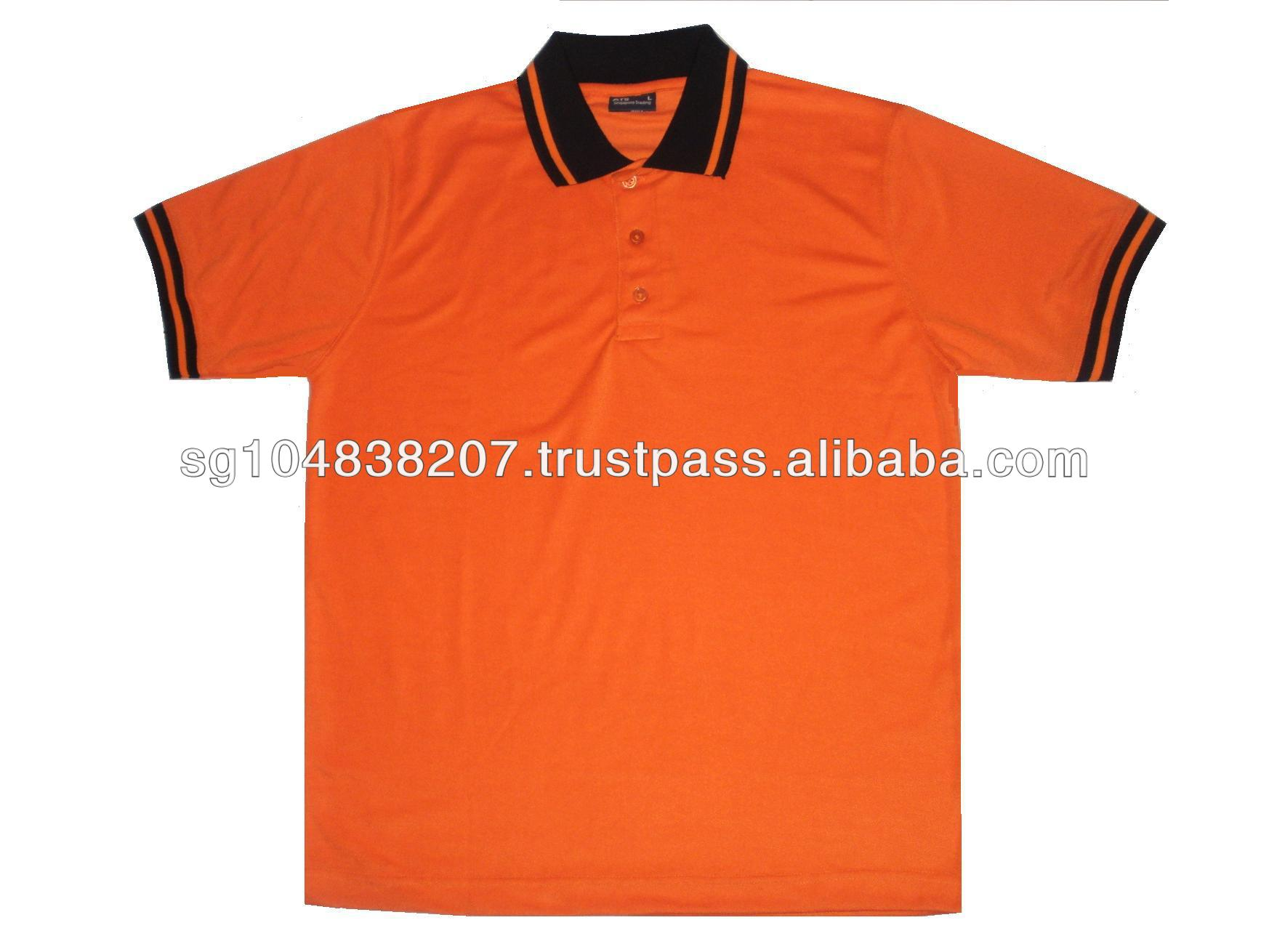 Color polo collar t shirt with tipping