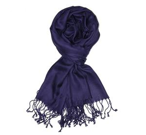 Cheap Soft Polyester Woven Solid Color Pashmina Scarf With Fringe
