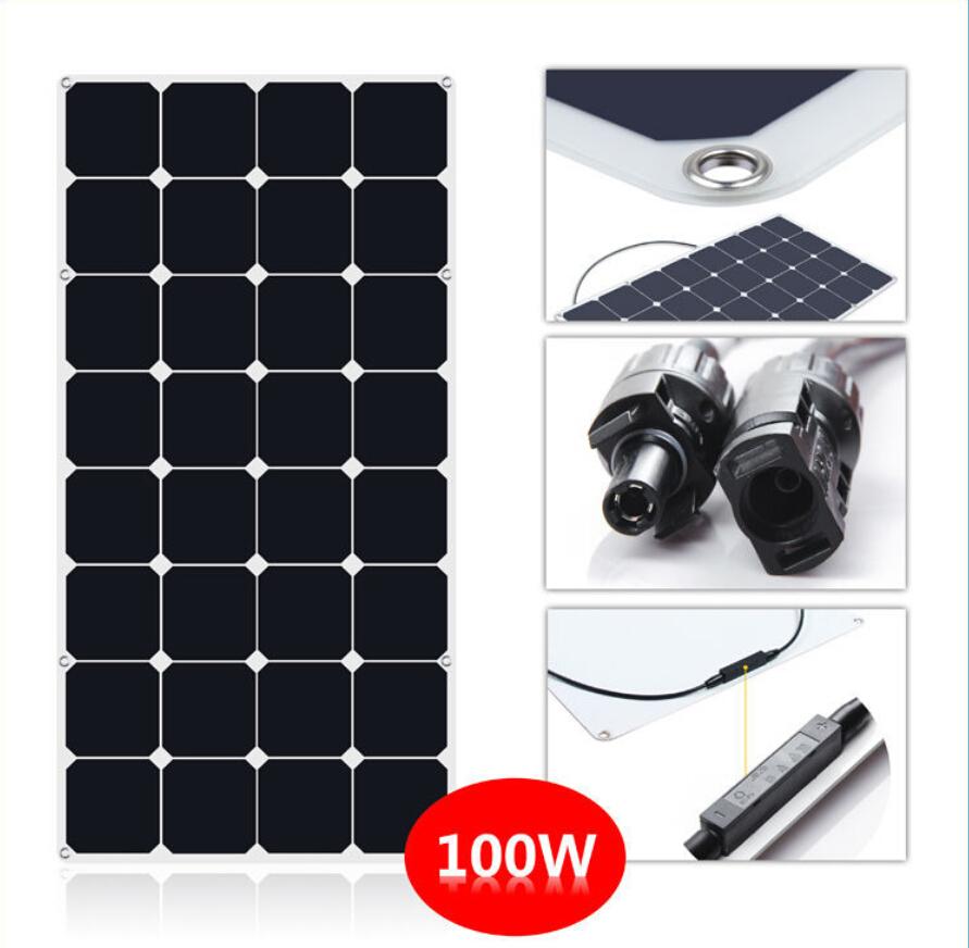 Cheap 100w Semi Flexible Solar System Kit Solar Panel