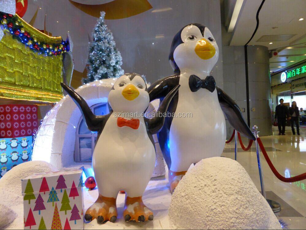 Fiberglass christmas decoration penguin sculpture buy - Decorations noel pas cher ...
